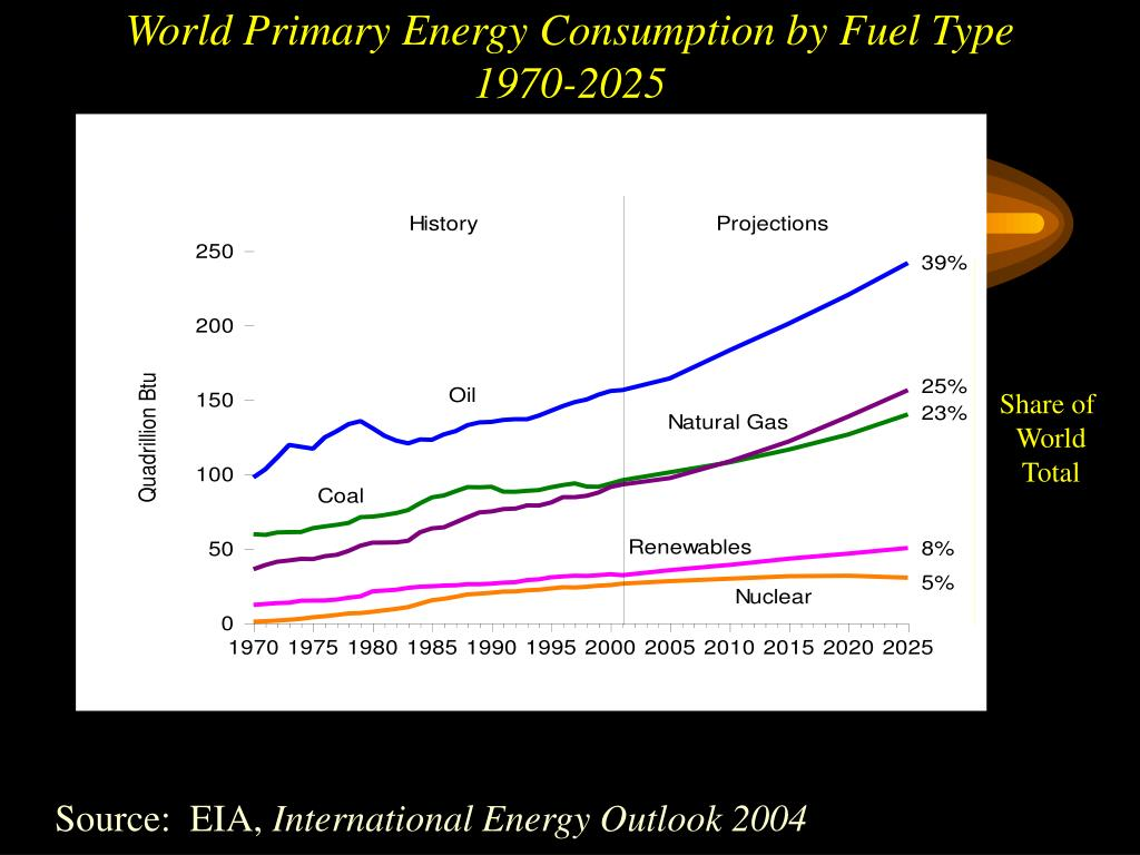 World Primary Energy Consumption by Fuel Type