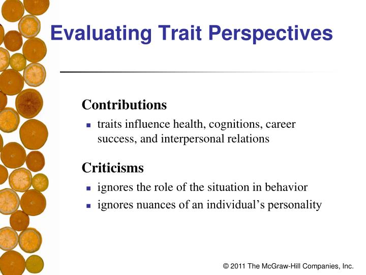 Evaluating Trait Perspectives