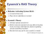 eysenck s ras theory