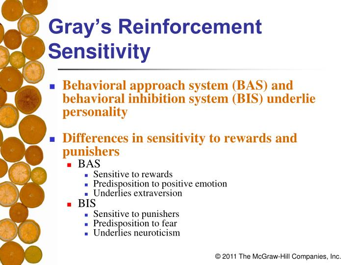 Gray's Reinforcement Sensitivity