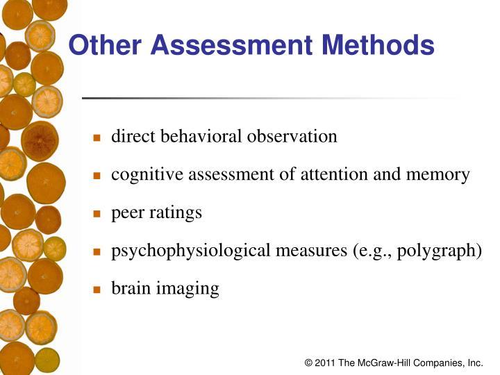 Other Assessment Methods