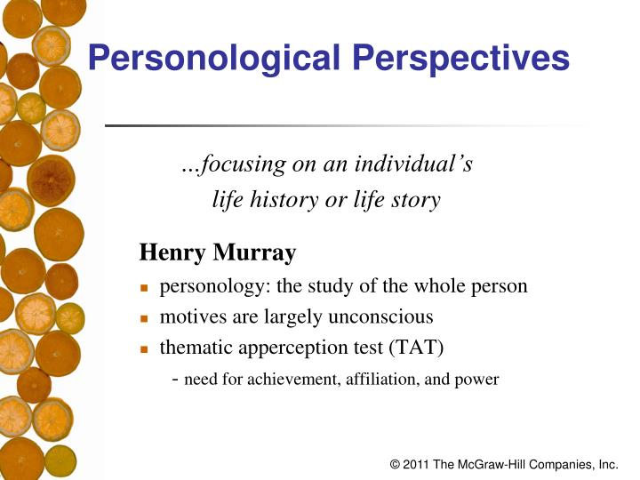 Personological Perspectives