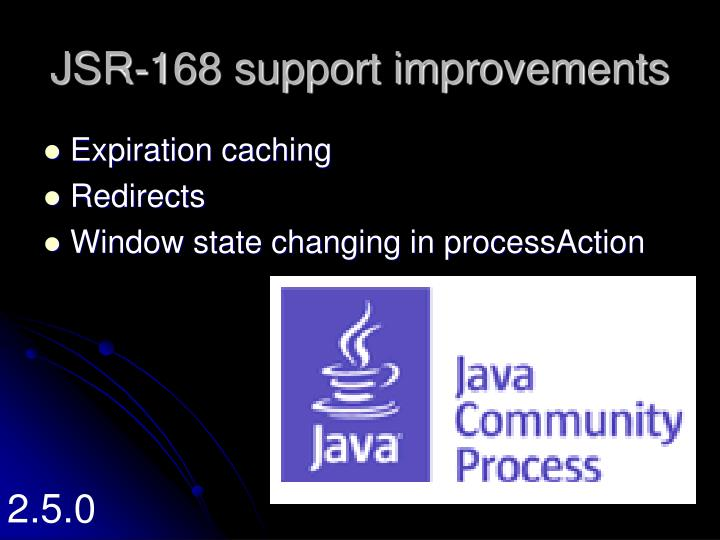 JSR-168 support improvements