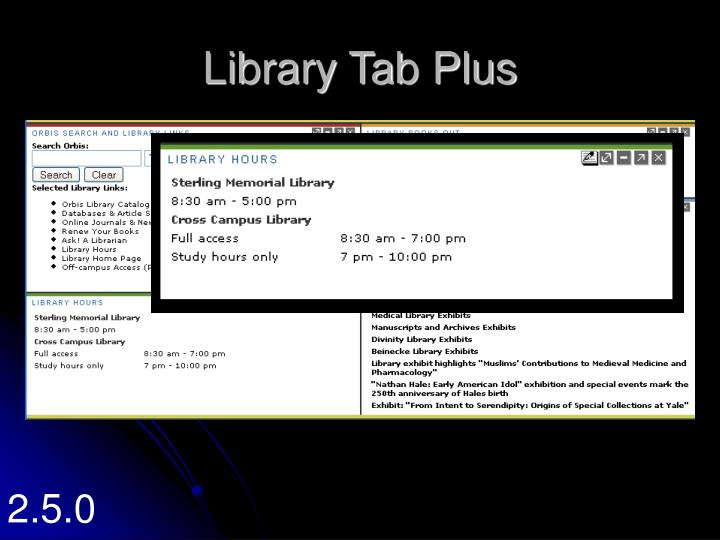 Library Tab Plus