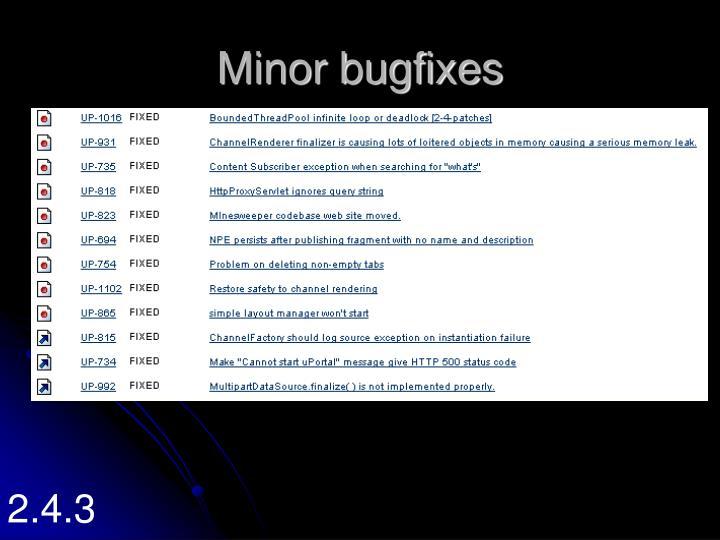 Minor bugfixes
