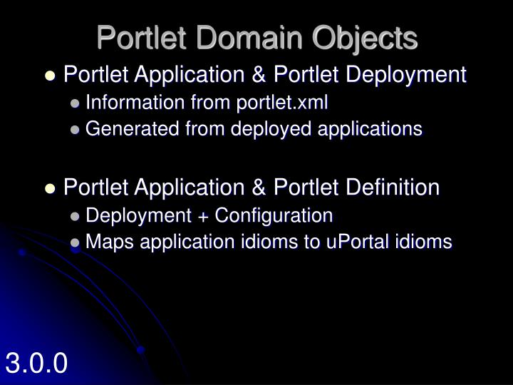Portlet Domain Objects