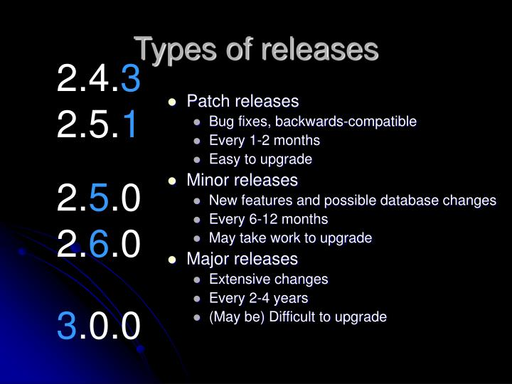 Types of releases