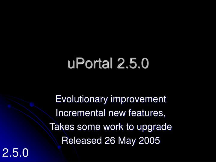 uPortal 2.5.0