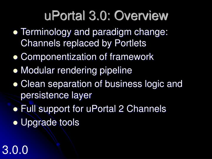 uPortal 3.0: Overview