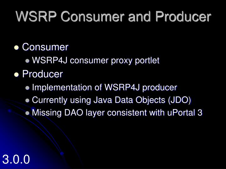 WSRP Consumer and Producer