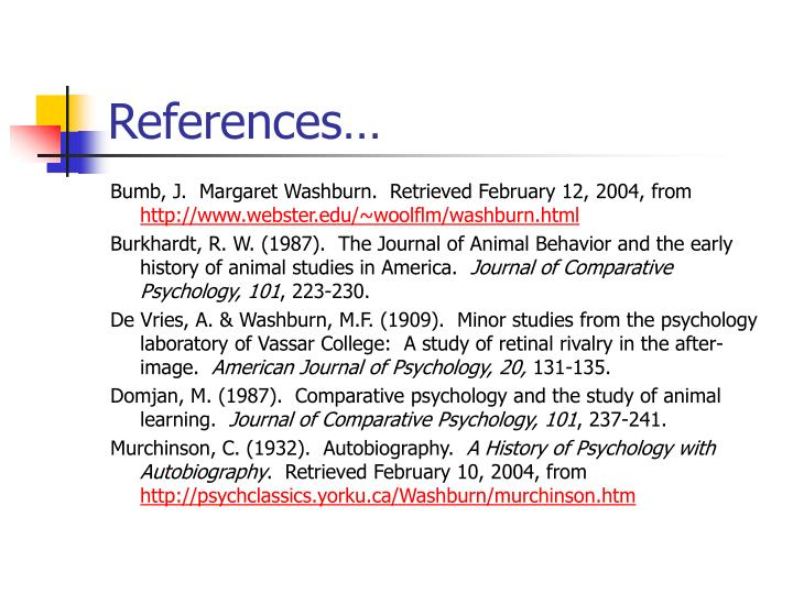 """women in psychology margaret washburn Titchener """"americanized"""" wundt's experimental psychology  19 were women,  including margaret washburn – the first female to get a phd in psychology."""