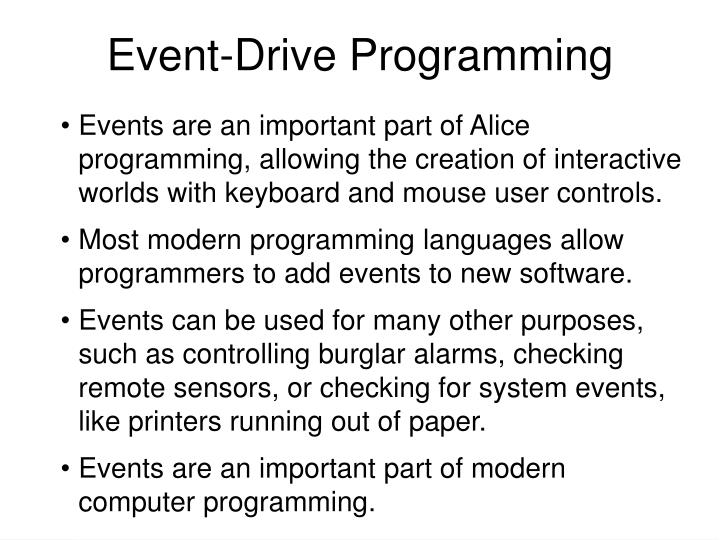 Event-Drive Programming