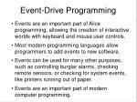 event drive programming