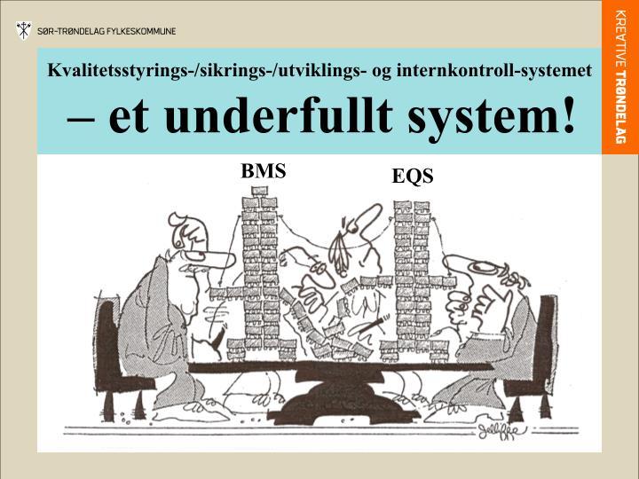 Kvalitetsstyrings-/sikrings-/utviklings- og internkontroll-systemet