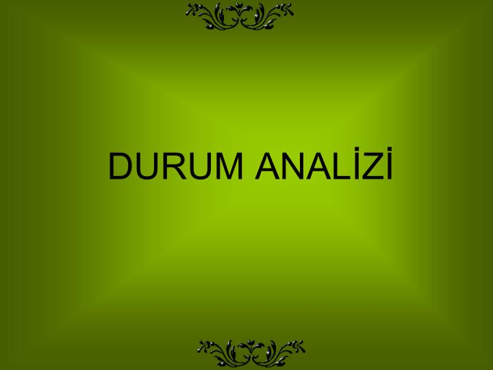 DURUM ANALİZİ