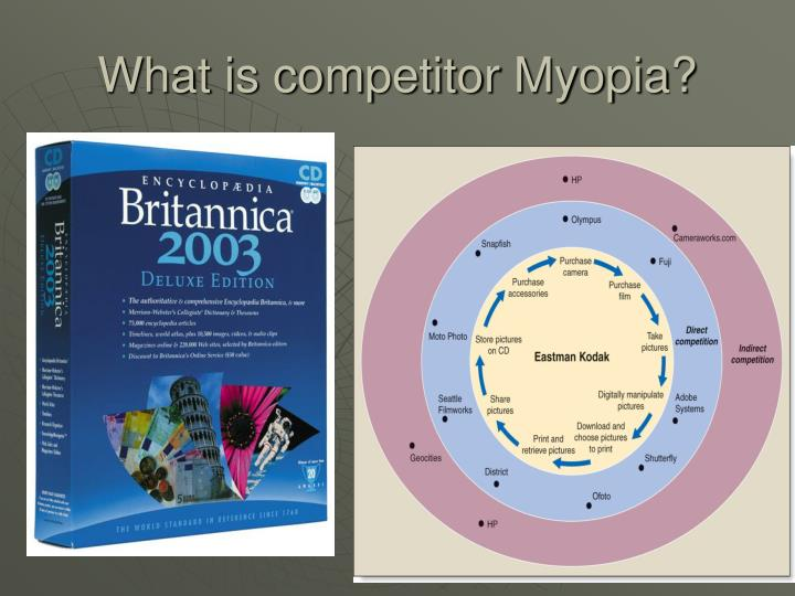 What is competitor Myopia?