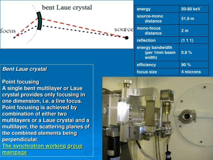 Bent Laue crystal