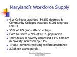 maryland s workforce supply1