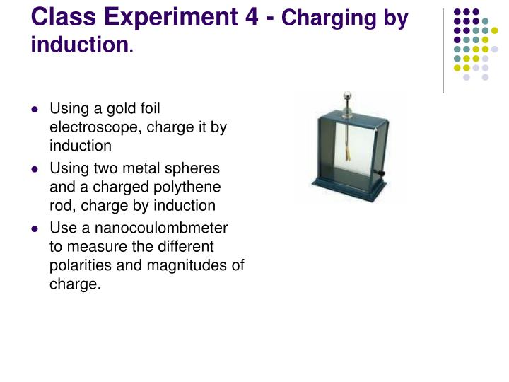 Using a gold foil electroscope, charge it by induction