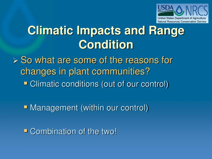 Climatic impacts and range condition2