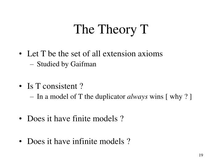 The Theory T