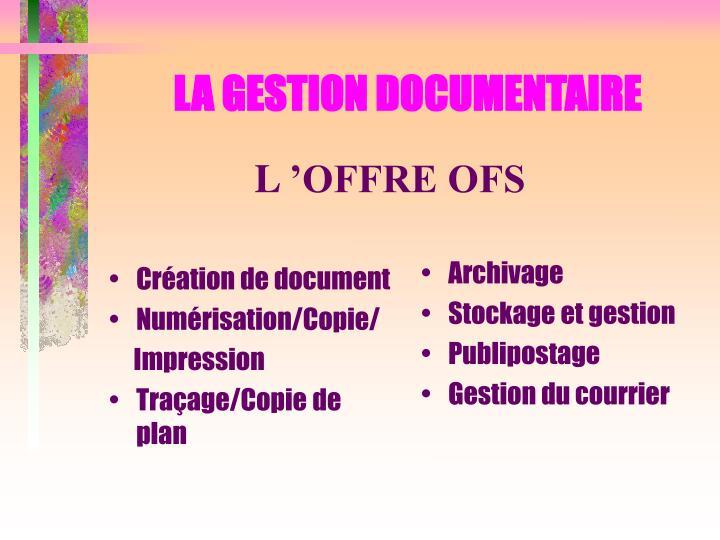 Création de document