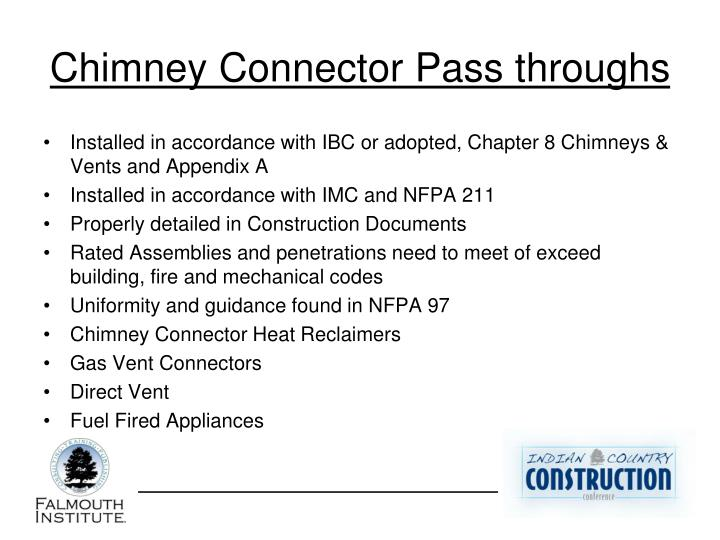 Chimney Connector Pass throughs