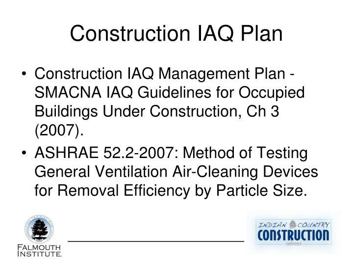 Construction IAQ Plan