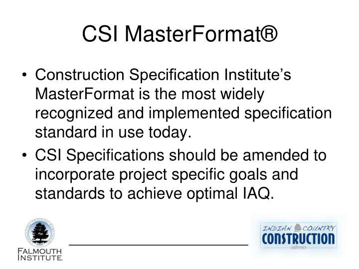 CSI MasterFormat®