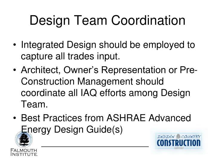 Design Team Coordination