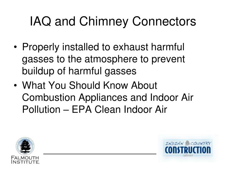 IAQ and Chimney Connectors