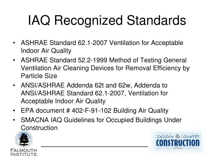 IAQ Recognized Standards