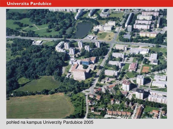 pohled na kampus Univerzity Pardubice 2005