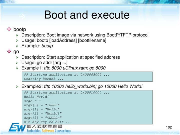 Boot and execute