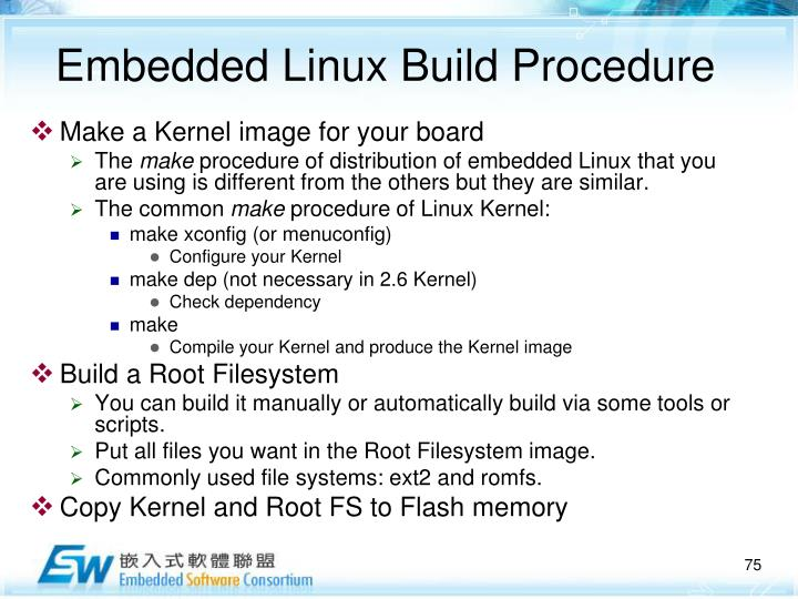 Embedded Linux Build Procedure