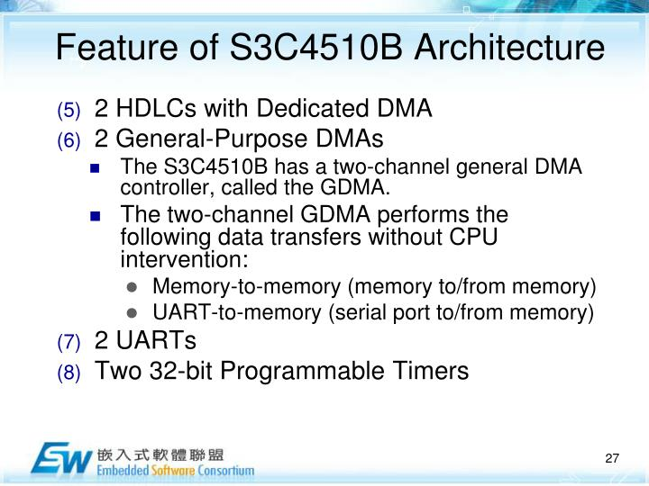 Feature of S3C4510B Architecture