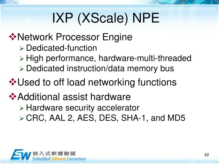 IXP (XScale) NPE