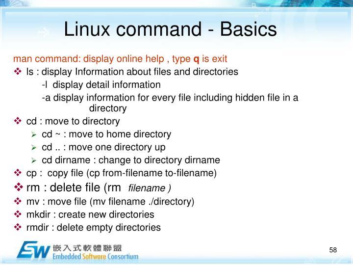 Linux command -