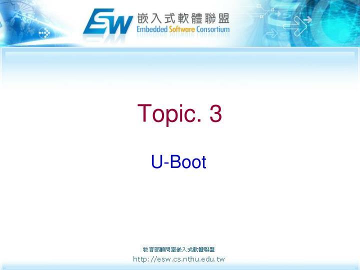 Topic. 3