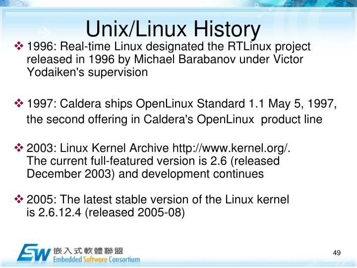 Unix/Linux History