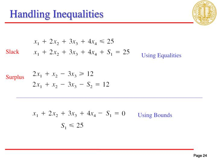 Handling Inequalities