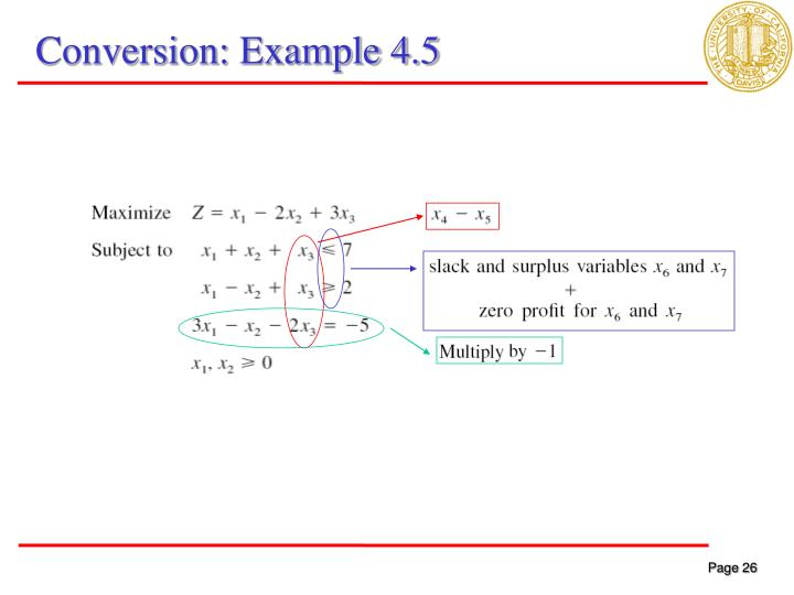 Conversion: Example 4.5