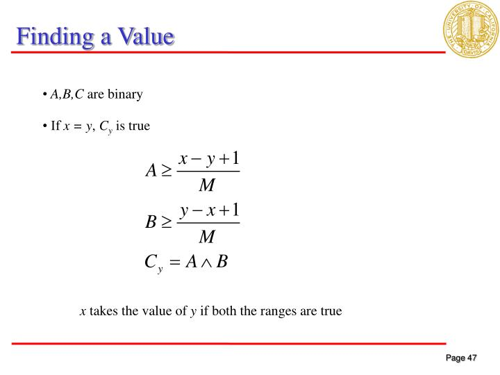 Finding a Value