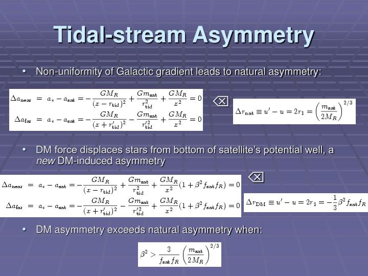 Tidal-stream Asymmetry