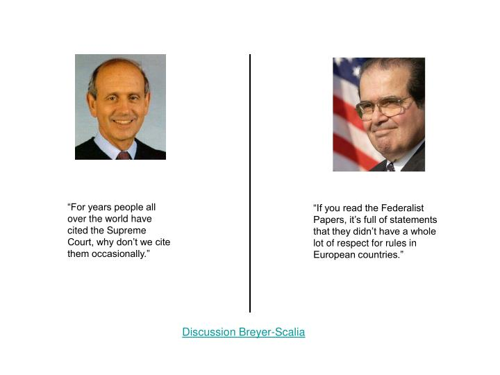 Discussion Breyer-Scalia