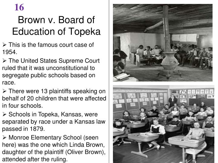What is brown vs board of education