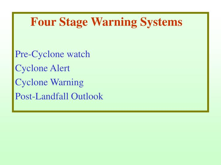 Four Stage Warning Systems