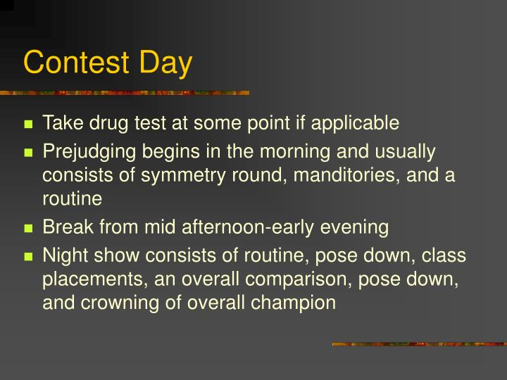 Contest Day