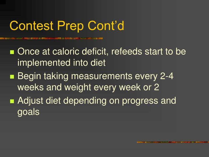 Contest Prep Cont'd