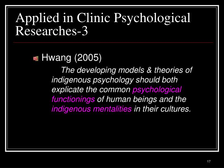 Applied in Clinic Psychological Researches-3